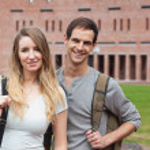 Cute student couple posing — Stock Photo #11193808