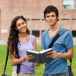 Couple holding a book — Stock Photo #11193870