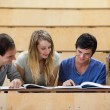 Students working together — Stock Photo