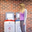Cute student recycling — Stockfoto