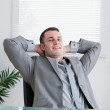 Close up of young businessmrelaxing — Stock Photo #11194736