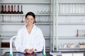 Smiling scientist posing — Stock Photo