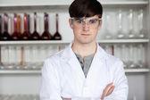Male scientist posing — Stock Photo