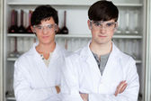 Male scientists posing — Stock Photo