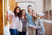 Students having their results — Stock Photo