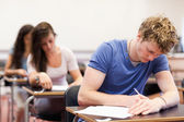 Students having a test — Stock Photo