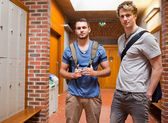 Handsome students posing — Stock Photo