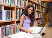 Cute student with a book — Stock Photo