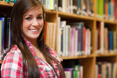 Close up of a smiling female student — Stock Photo