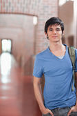 Portrait of a male student posing — Stock Photo