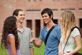 Fellow students chatting — Stock Photo