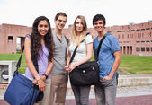Fellow students posing — Stock Photo
