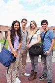 Portrait of fellow students posing — Stock Photo