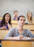 Serious students listening during a lecture — Stock Photo