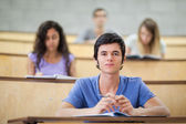 Focused students during a lecture — Stock Photo