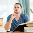 Student in thoughts - Stockfoto