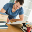 Stock Photo: Student focused on his work