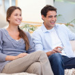 Couple watching TV — Stock Photo #11204176