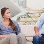 Couple talking seriously — Stock Photo