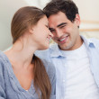 Portrait of a lovely couple looking at each other — Stock Photo