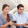Royalty-Free Stock Photo: Young couple playing video games