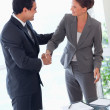 Business partner shaking hands after closing a deal — Stock Photo
