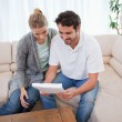 Couple reading a letter — Stock Photo #11205840