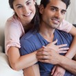 Stock Photo: Portrait of a couple posing