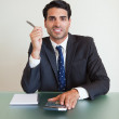 Portrait of a businessman working — Stock Photo #11206702