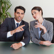 Foto Stock: Good looking business negotiating
