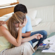 Sad couple in financial trouble - Foto Stock