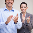 Standing business team clapping — Stock Photo #11207810