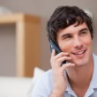 Smiling man on the phone — Stock Photo #11207938