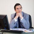 Businessman in thoughts — Stock Photo