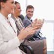 Side view of business team applauding — Stock Photo