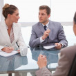 Business team deliberating with lawyer — Stock Photo #11208417