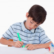 Young boy drawing — Stock Photo #11209227