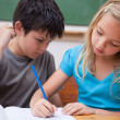 Focused pupils working together — Stock Photo #11209467