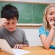 Foto Stock: Two children reading