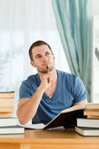 Student thinking about subject material — Stock Photo