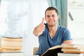 Student is well prepared for his exam — Stock Photo