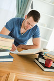 Student focused on his work — Stock Photo