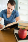 Student doing his assignment — Stock Photo