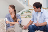 Man arguing with his wife — Stock Photo