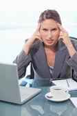 Portrait of an upset businesswoman — Stock Photo