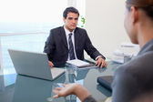 Business team during a meeting — Stock Photo