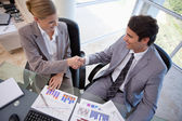 Business agreeing on a deal — Stock Photo