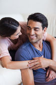 Portrait of a charming couple posing — Stock Photo