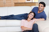 Charming couple posing — Stock Photo