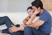 In love couple cuddling each other — Stock Photo